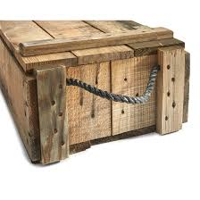 Wooden Crate With Handles Us Military Wooden Ammo Box With Rope Handles Used 578900