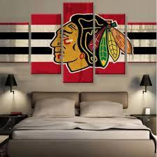 aliexpress com acheter 5 pi ces chicago blackhawks mur art toile