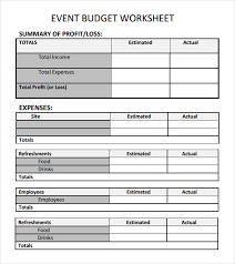 Budgeting For An Event Sample Event Budget Template 6 Free Documents Download In Word Pdf