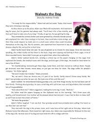 Reading Comprehension Worksheet - Walnuts the Dog