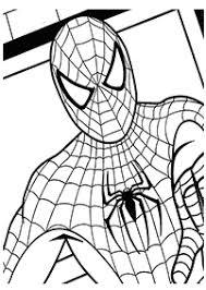 スパイダーマンの塗り絵