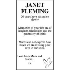 Janet Fleming - Memorial - East Anglian Daily Times Announcements - Family  Notices 24