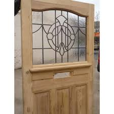 1930 edwardian stained glass exterior door clear textured leaded