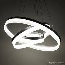 luxury modern chandelier led circle ring chandelier light for living room acrylic re chandelier lighting white sliver 85 265 unique pendant lighting