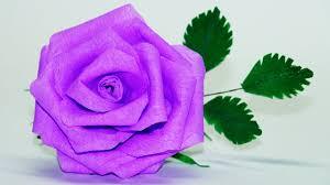 Chart Paper Flower Making Flowers Making How To Make Rose Paper Flower Youtube