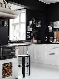 black kitchen cabinets and wall color photo - 6