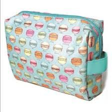 new sugar lulu cosmetics travel bag macaron print