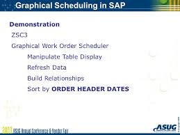 Graphical Work Order Scheduling In Sap Ppt Download