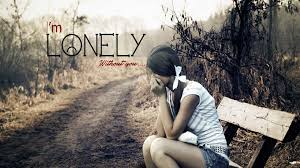 very sad girl alone