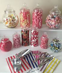 Image is loading Plastic-Victorian-Style-Sweet-Jars-for-DIY-Candy-