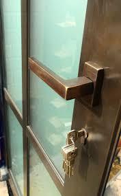 For door hardware, we installed none other than Olivari's Planet Q  burnished brass door handle