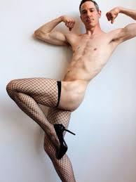 Gay men wearing stockings