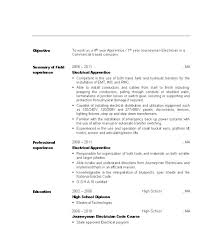 Apprentice Electrician Resume Objective Examples