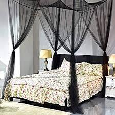 Amazon.com: Goplus 4 Corner Post Bed Canopy Mosquito Net Full Queen ...