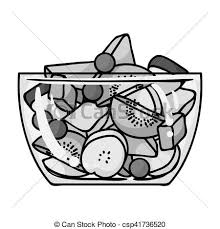 fruit salad clipart black and white. Contemporary And Fruit Salad Icon In Monochrome Style Isolated On White Background Sport  And Fitness Symbol Stock To Clipart Black T