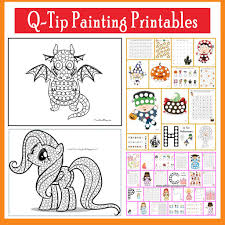 Q-Tip Painting Templates  Free Printables