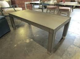 vanguard coffee table nailhead trim