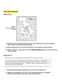 causes of the industrial revolution graphic organizer and essay  dbq causes of the industrial revolution graphic organizer and essay guide