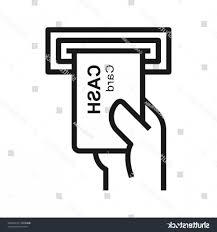 Insert Card Icon Cash Hand Simple Handandbeak