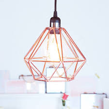 wire cage lamp shade birdcage floor iron table base diy black metal rose gold pendant light fitting