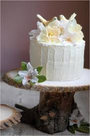 DIY Rustic Wedding Cake Stand