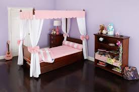 Bed Frame : Full Size Canopy Wood Four Poster How To Make A Used ...
