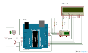 automatic temperature controlled fan using arduino temperature controlled fan circuit diagram