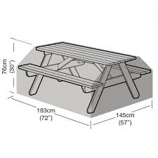 8 seater picnic table cover