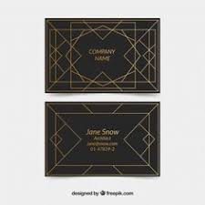 corporate card in art deco style free vector