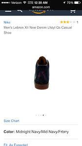 Lebron Shoe Size Chart