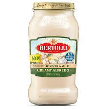 Bertolli Light Alfredo Sauce Bertolli Creamy Alfredo With Cauliflower And Milk Bertolli