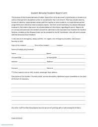 Free Incident Report Form Template Inspirational Employee Templates