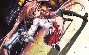 Anime babe with gun