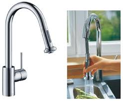 hansgrohe 14877000 variarc talis s kitchen sink mixer tap with pull out hand spray chrome