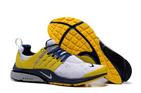 nike mens shoes. nike air presto tp qs navy yellow mens shoes