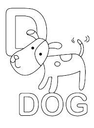 Lettere E Numeri Lettera D In Stampatello Di Dog Cane In Inglese