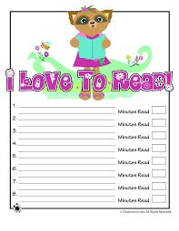 9 Printable Reading Logs - Woo! Jr. Kids Activities
