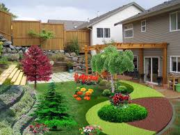 Design Your Own Front Garden Pin By Marti Alvey On Backyard Sloped Backyard Landscaping