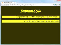 How to Use an External Style Sheet for HTML5 and CSS3 Programming ...