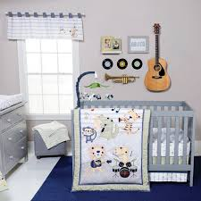 trend lab safari rock band six piece crib bedding set hover to zoom