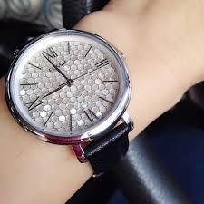 pre authentic fossil jacqueline black leather watch women s fashion watches on carou