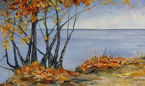 sliced with a tear a large autumn canadian landscape painting canadian contemporary artist terrill welch