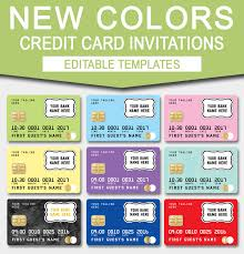 Credit Card Party Invitations Credit Card Invitation Mall Scavenger Hunt Invitations