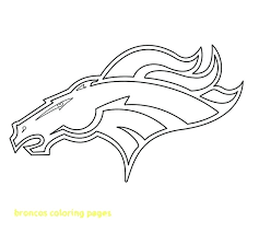 Denver Broncos Coloring Pages Broncos Logo Coloring Page Broncos