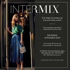 holiday event at intermix
