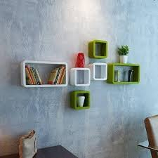 decoration cube rectangle wall shelves