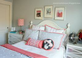 Girls Bedroom Ideas For Small Rooms Teen Girl Gray And Coral