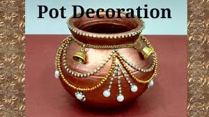 Kalash Decoration Designs Pot Decoration Kalash decoration Navratri Diwali special 2