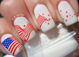 american flag nail art transfers decals