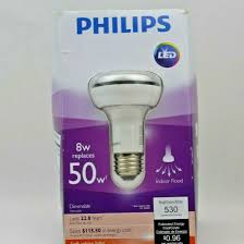 Amber Flood Light Bulb Philips 451849 8 Watt 50 Watt R20 Indoor Flood Led Light Bulb Dimmable